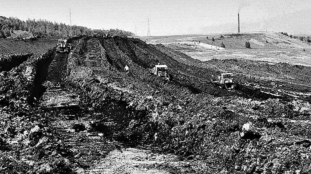 Mostecký lom Vrbenský v roce 1978