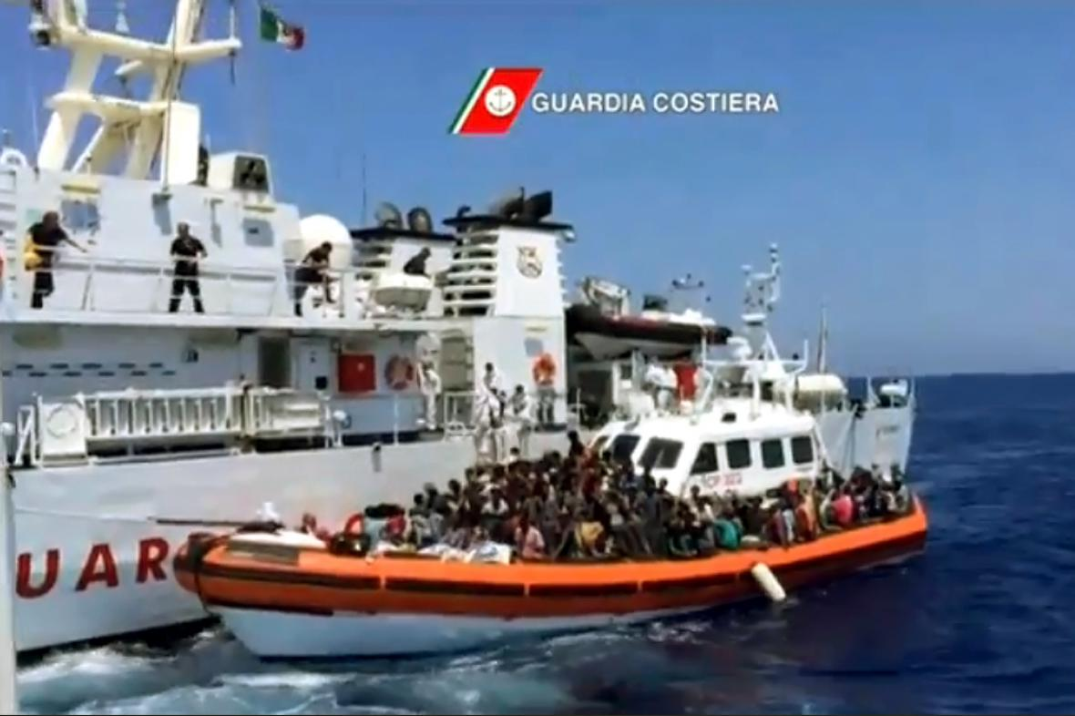 Zachránění afričtí uprchlíci