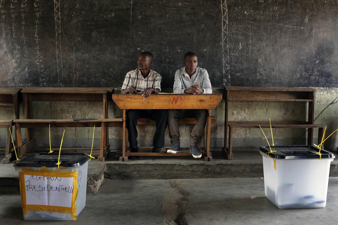 Volební místnost v Burundi
