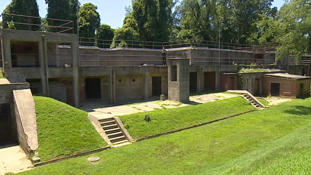 Bývalý tábor pro německé válečné zajatce ve Fort Hunt ve Virginii