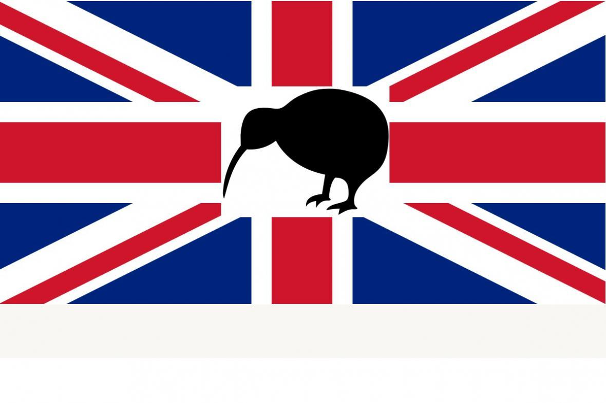 Jeden z návrhů na novou vlajku Nového Zélandu