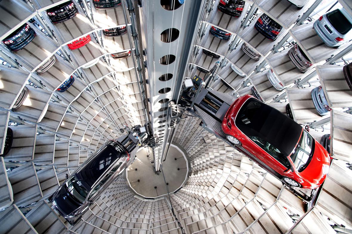 Sklad Volkswagenu ve Wolfsburgu