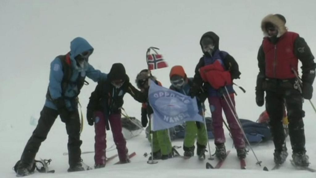 Norští školáci na Severním pólu