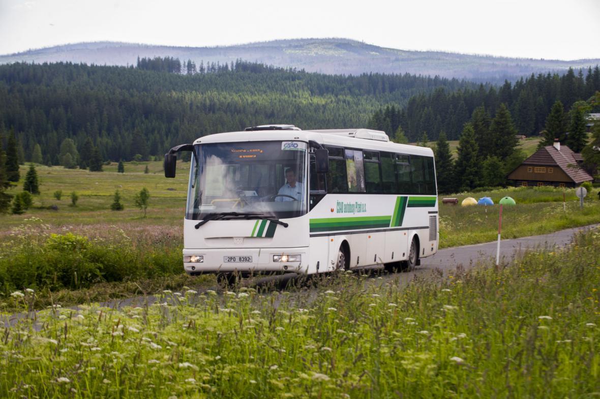 Zelený autobus na Šumavě