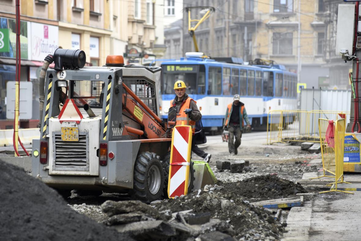 Dopravní komplikace v Ostravě