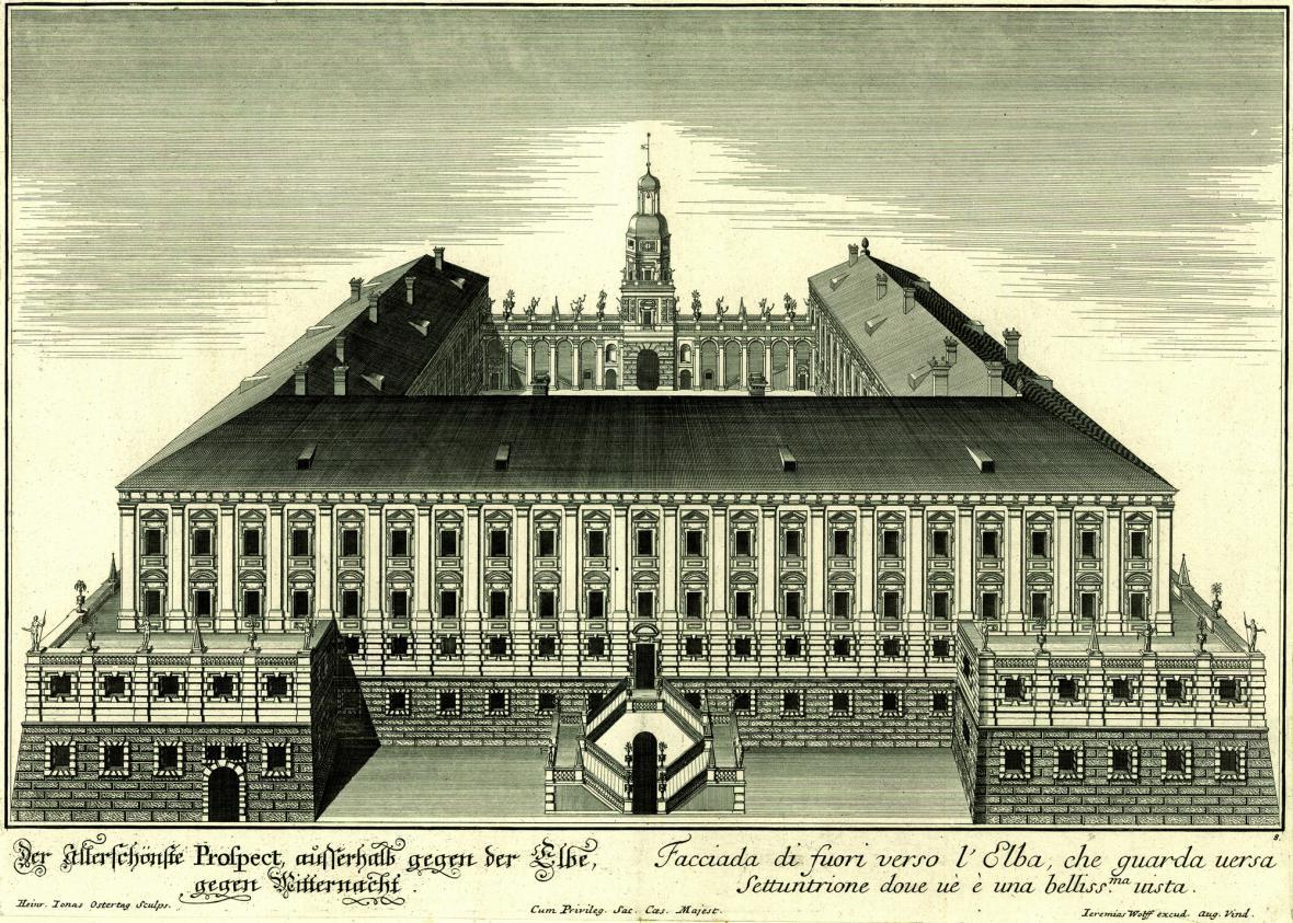 Zahradní průčelí zámku Roudnice nad Labem