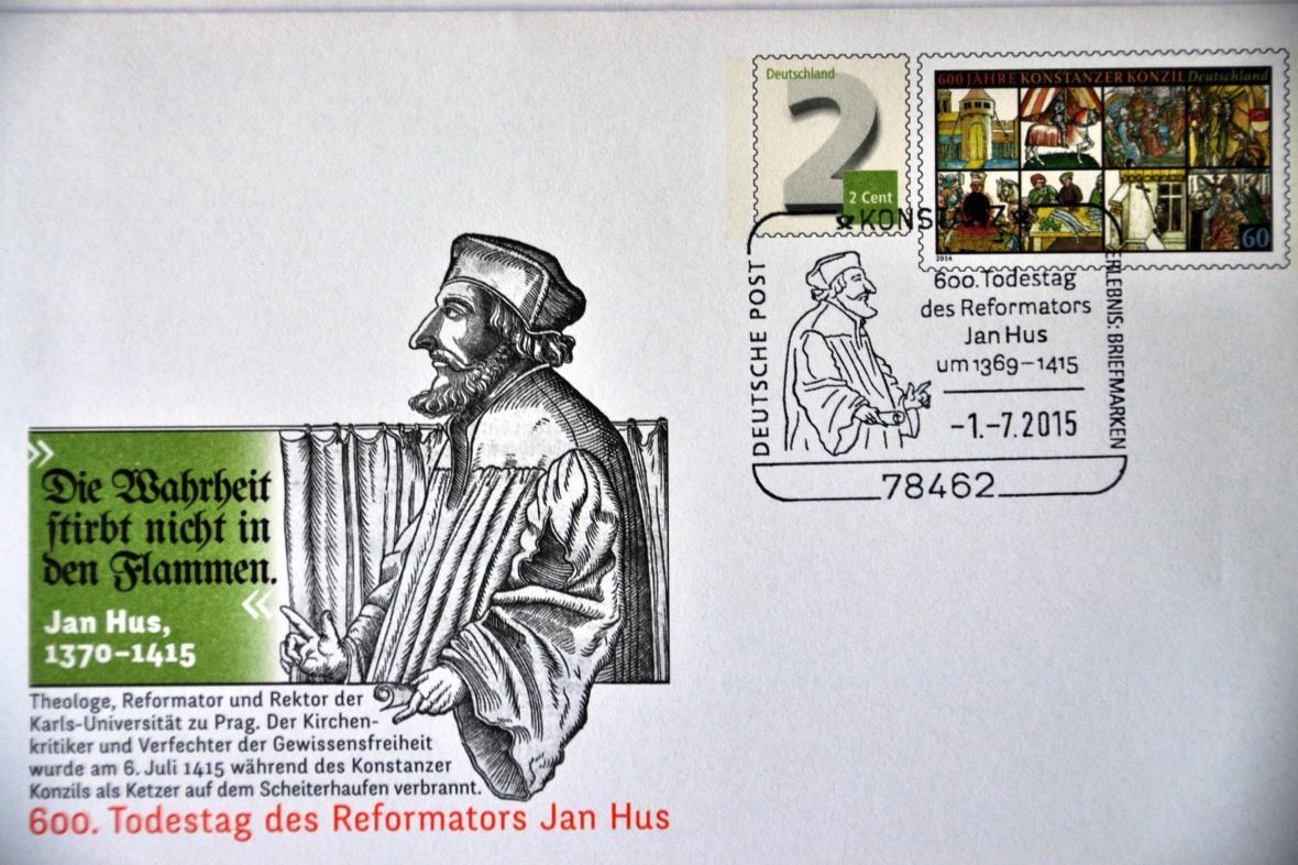 Německá pošta si připomíná odkaz Jana Husa