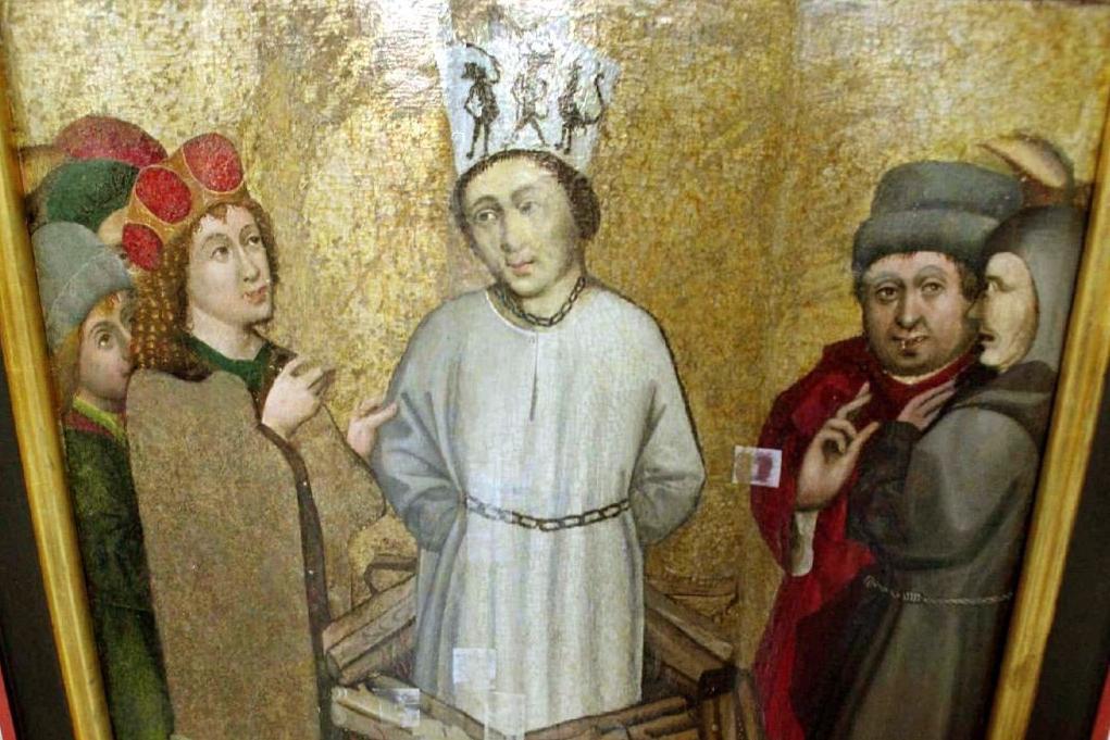 Podobizna Jana Husa na oltáři kostela svatého Václava v Roudníkách