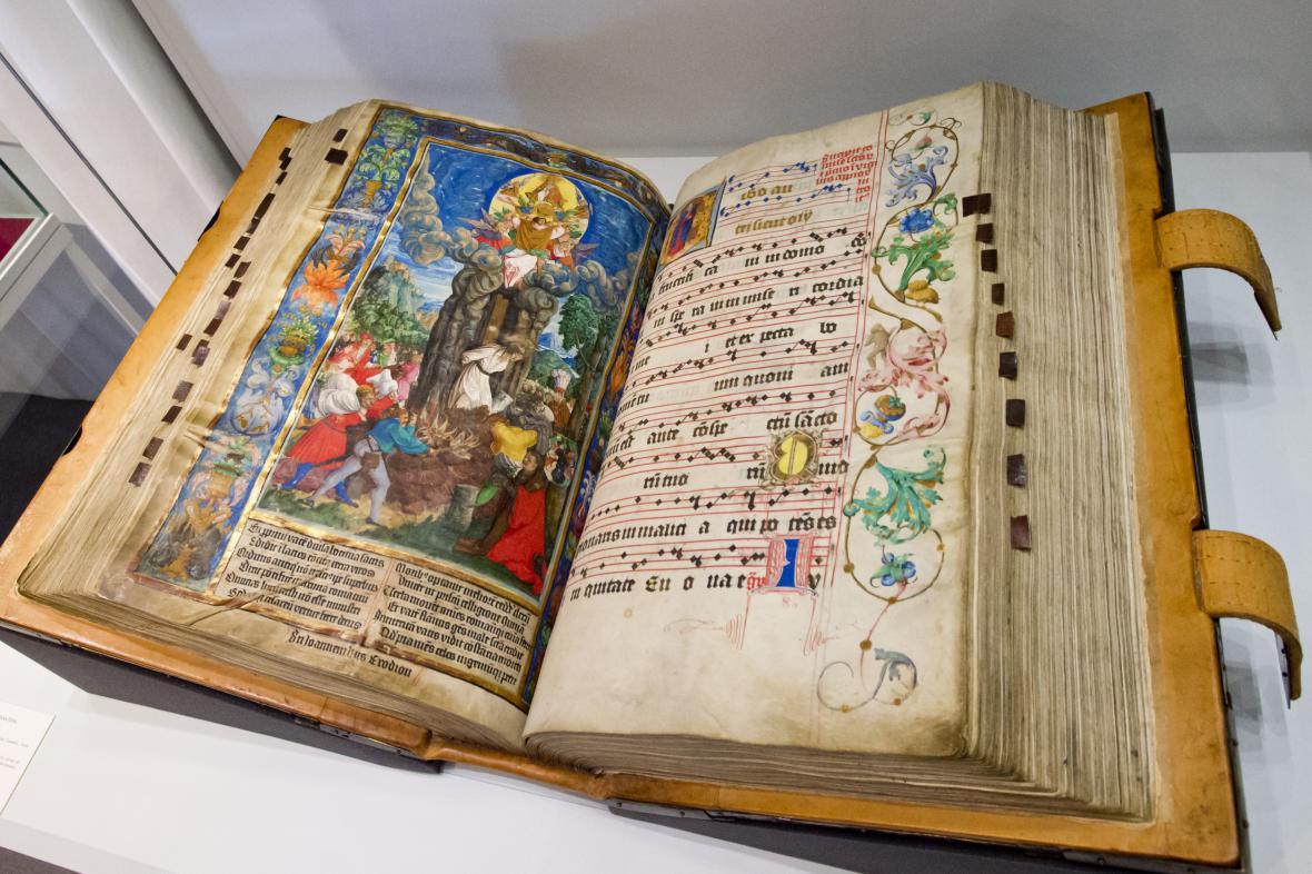 Kališnický graduál z Litoměřic s vyobrazením upálení Jana Husa