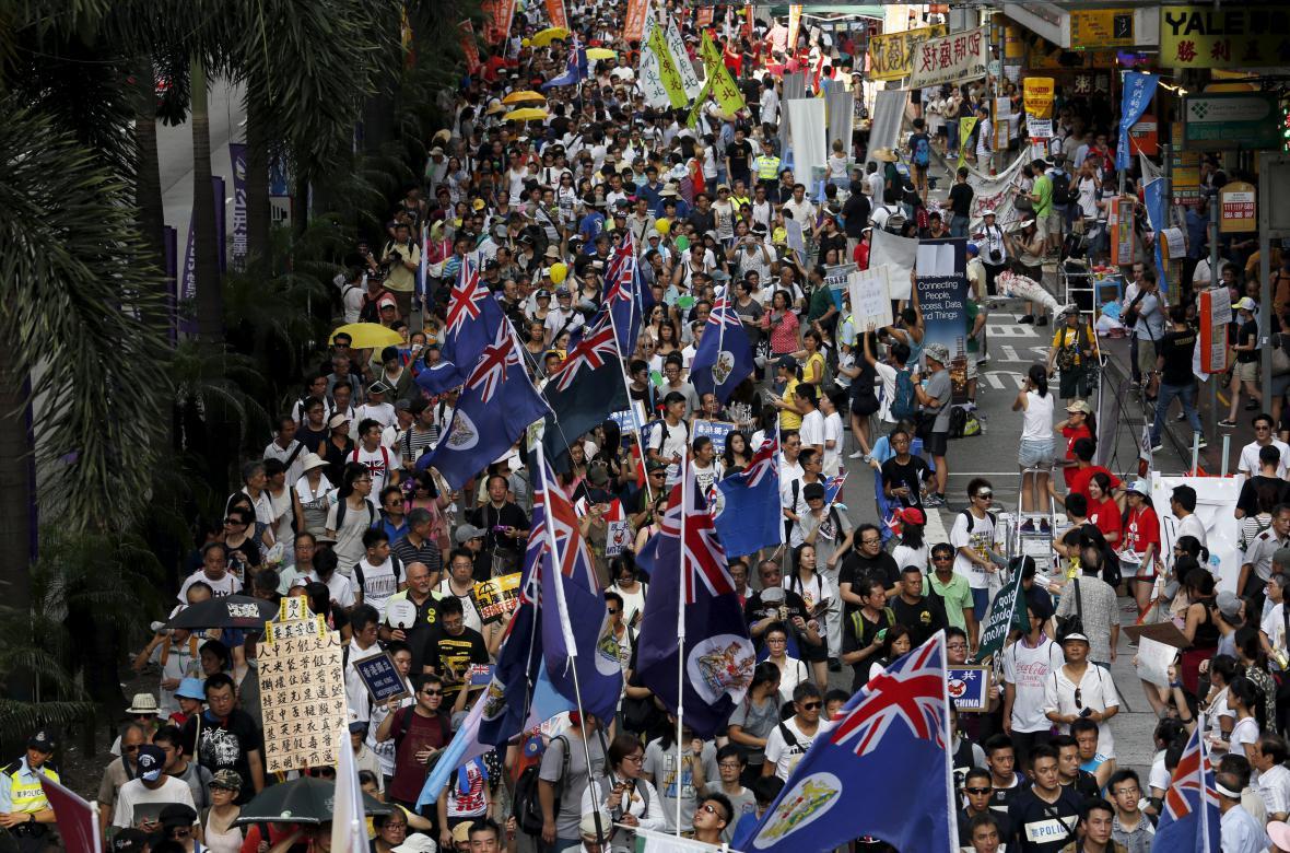 Protesty v ulicích Hongkongu