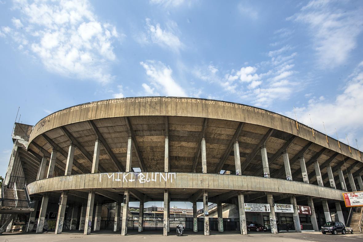 Strahovský stadion v roce 2015