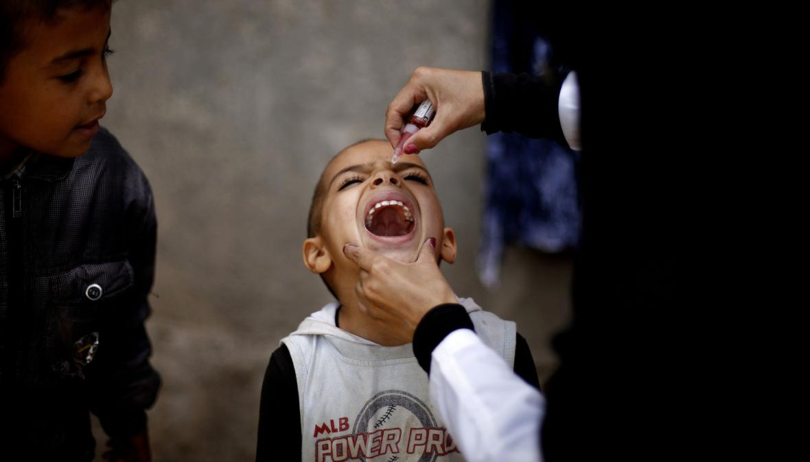 Očkování dětí v Jemenu
