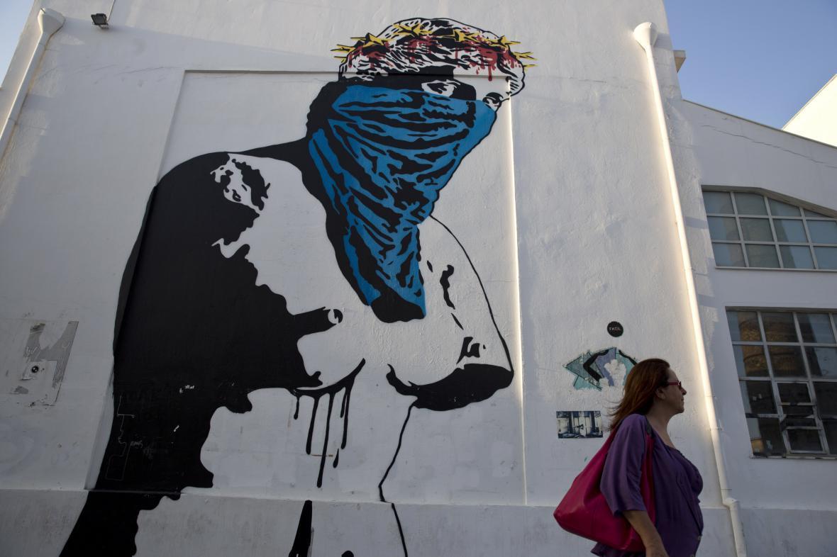 Graffiti v Aténách nazvané
