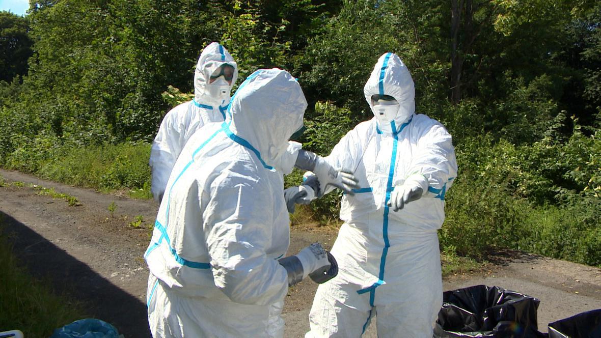 Veterináři při cvičení na Chebsku