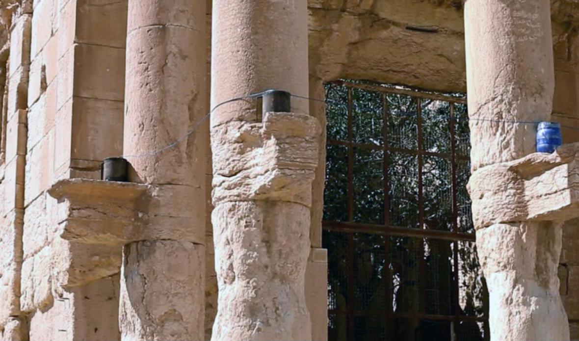Fotografie zkázy Palmýry