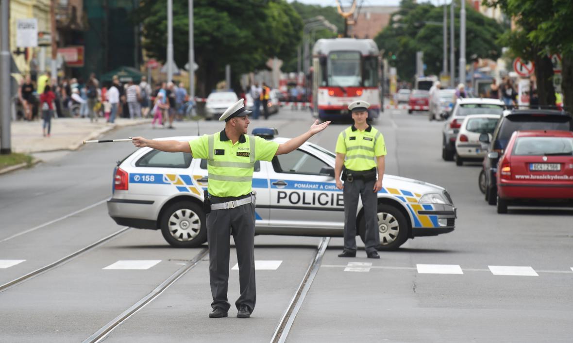 Evakuace po nálezu bomby v Olomouci