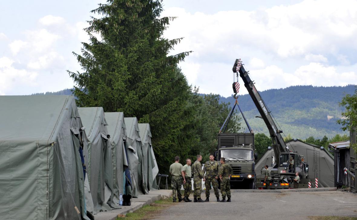 Vojáci v Haluzicích se přesouvají na novou základnu