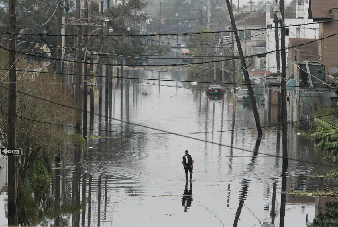 Následky hurikánu Katrina v roce 2005