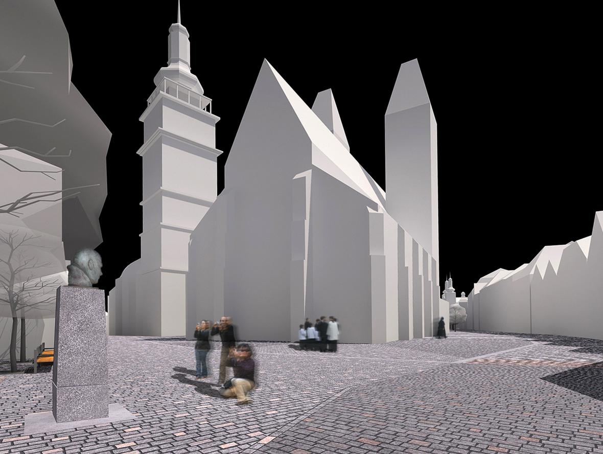 Vizualizace - projekt revitalizace Velkého náměstí v Hradci Králové