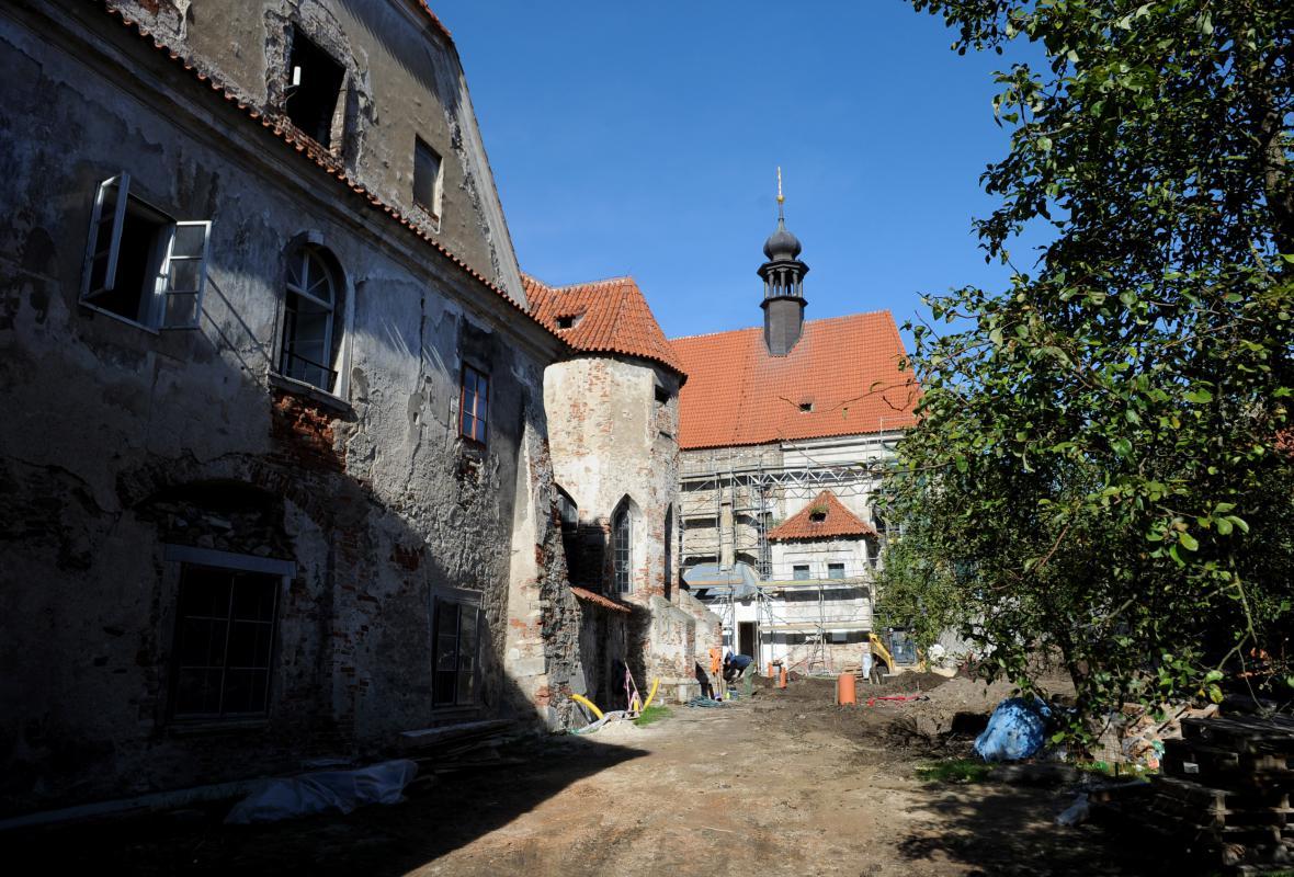 Klášterní kostel a kaple sv. Wolfganga před rekonstrukcí