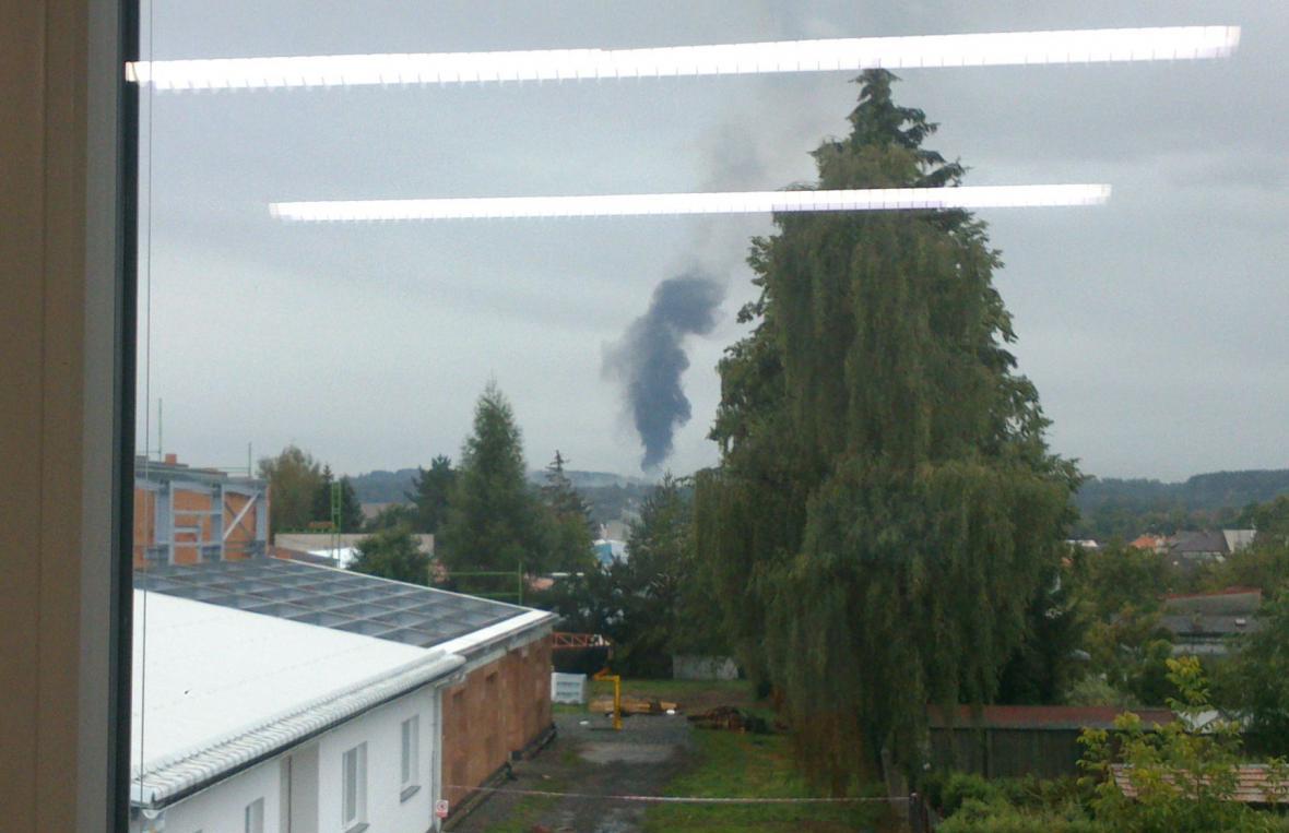 Výbuch v areálu Poličských strojíren