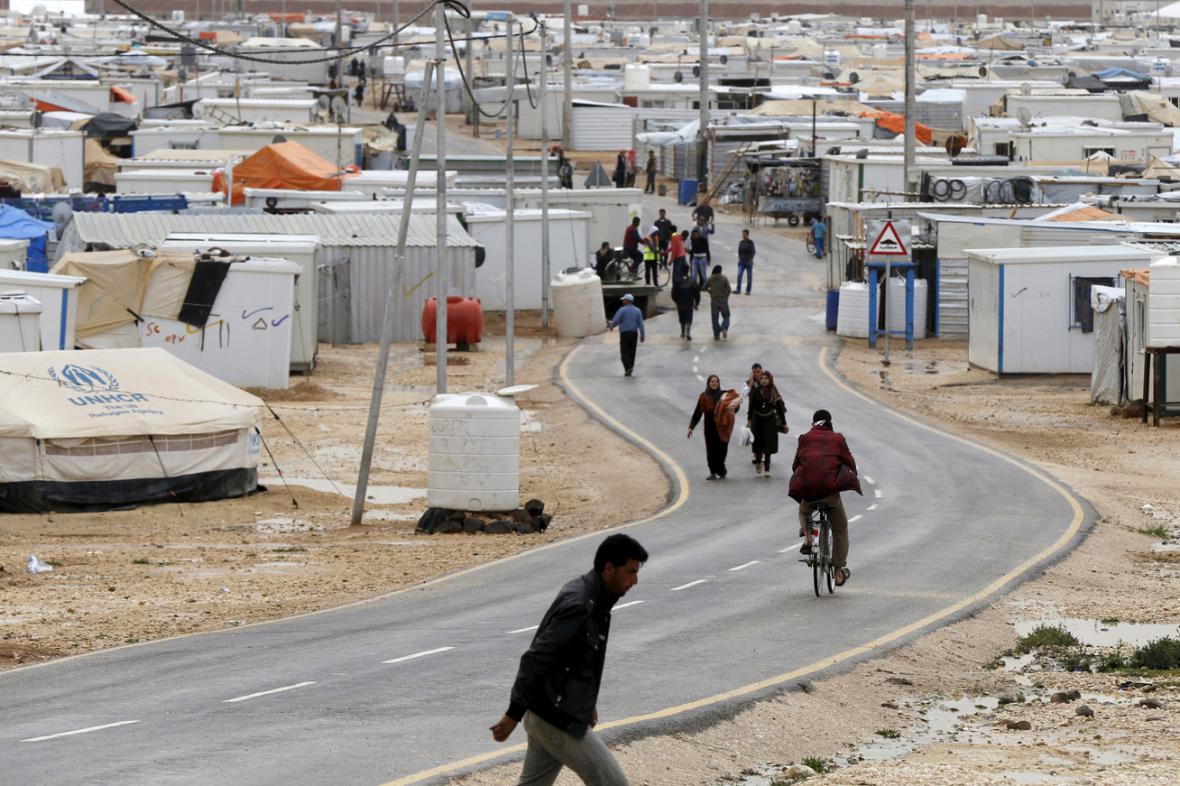 Uprchlický tábor v jordánském Zaatarí