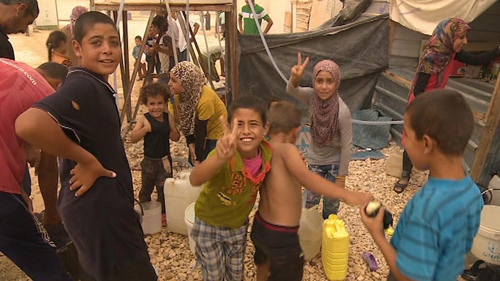 Uprchlíci v táboře v jordánském Zaatarí