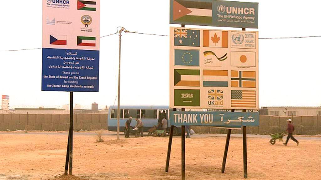 Česko mezi sponzory v uprchlickém táboře v jordánském Zaatarí