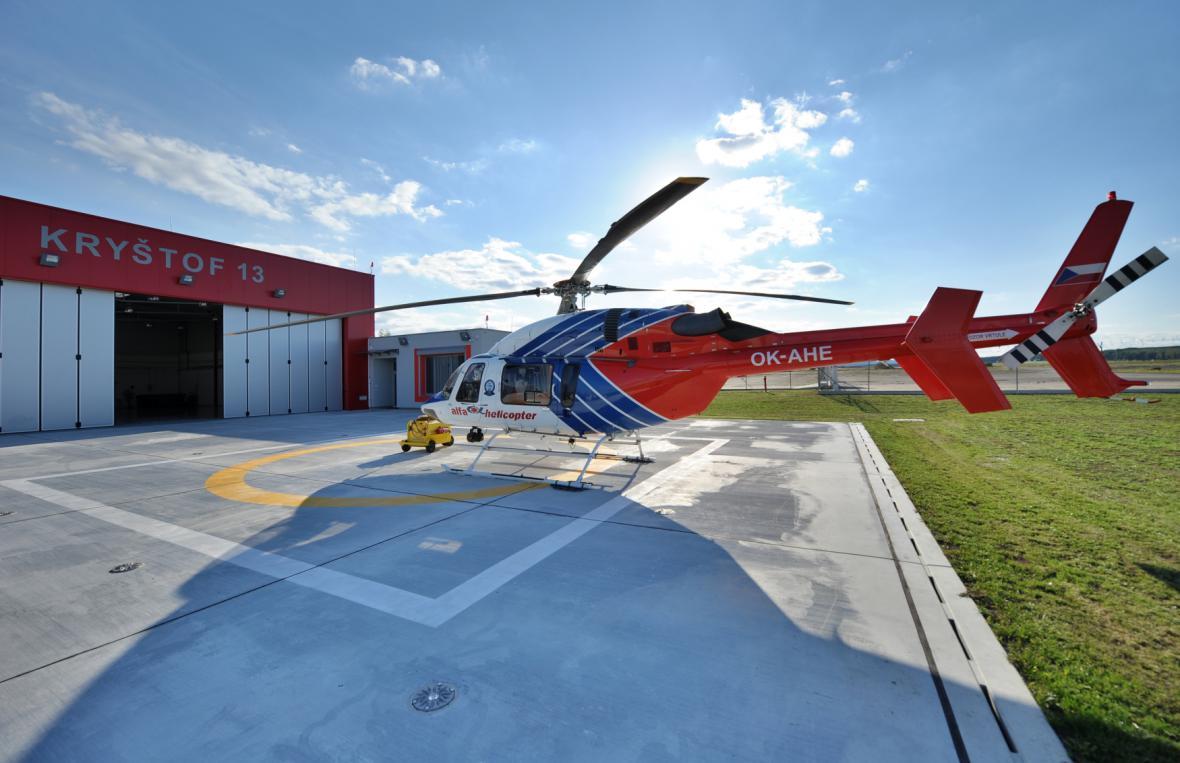 Nový heliport v Českých Budějovicích