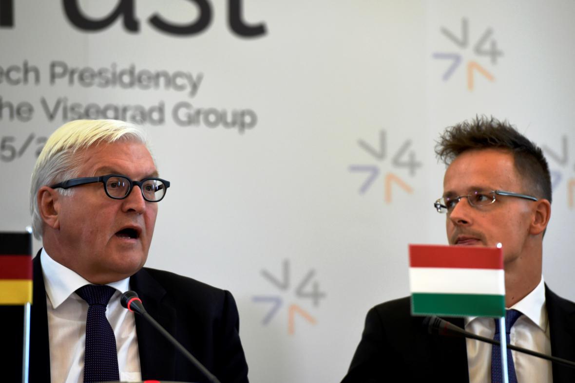 Frank-Walter Steinmeier a Péter Szijjártó