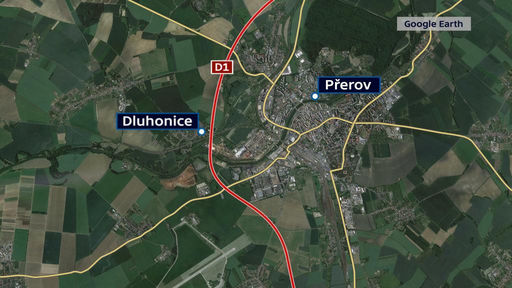 Chybějící úseky D1 v okolí Přerova