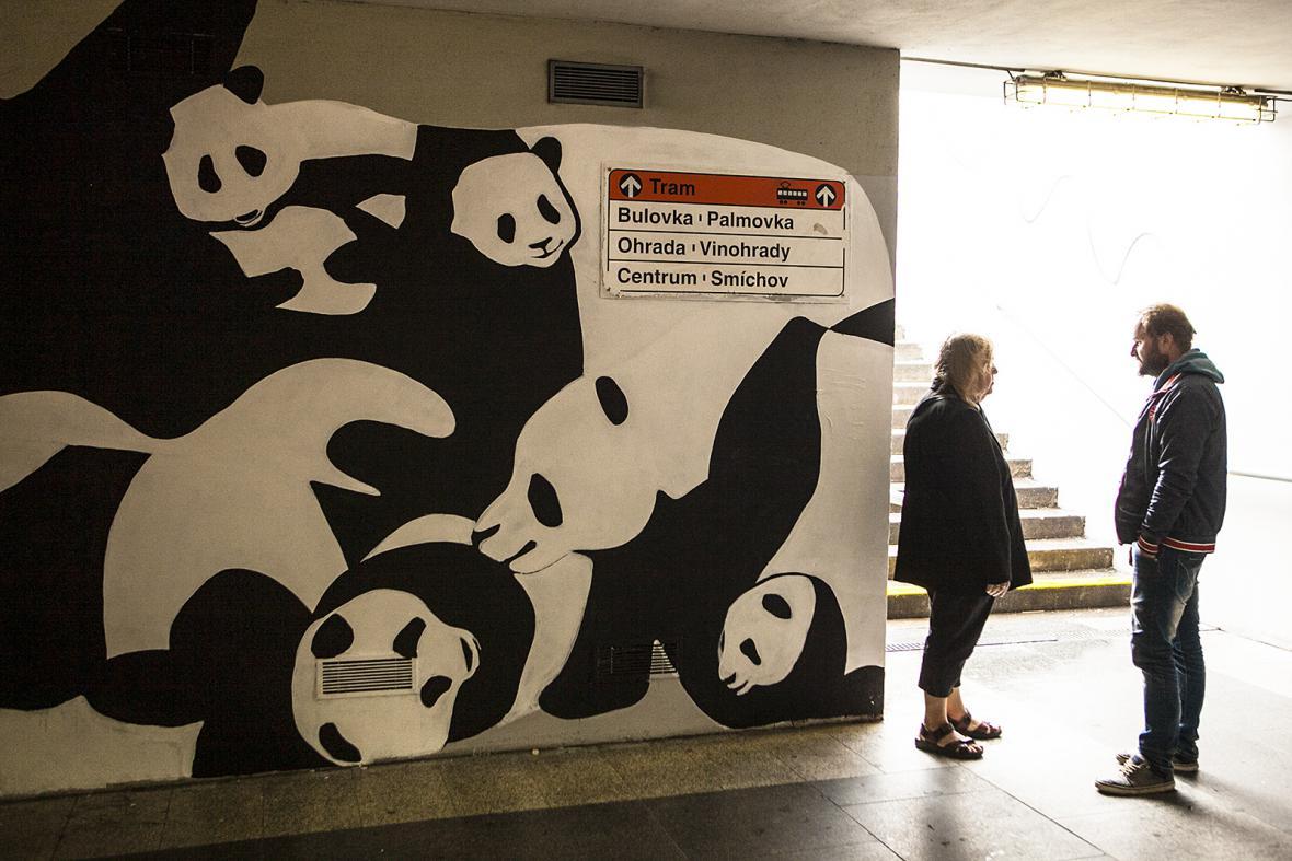 Graffiti v pražském metru