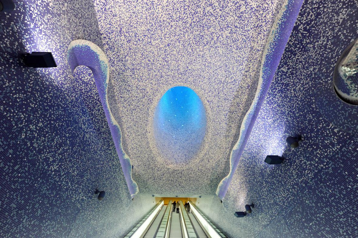 Stanice metra jako umělecké galerie