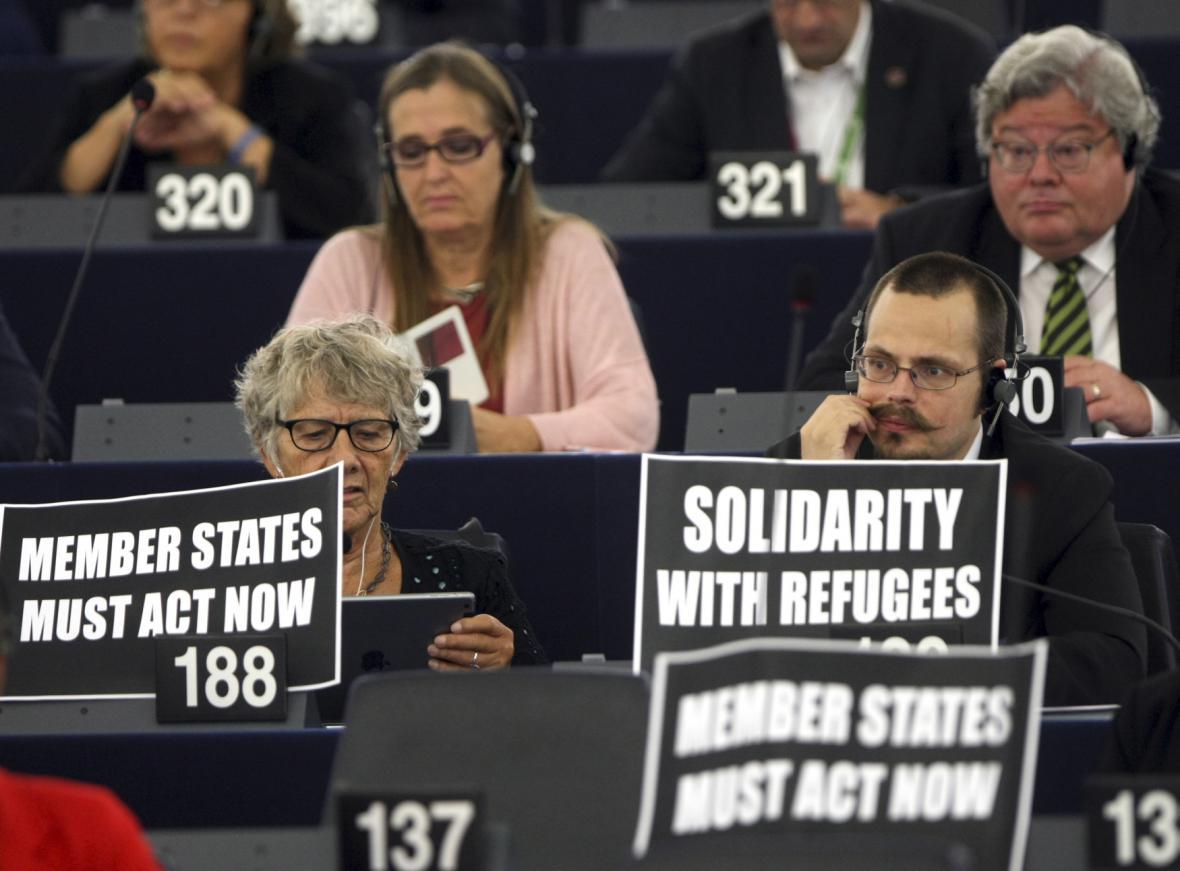 Evropský parlament při jednání o migrační krizi