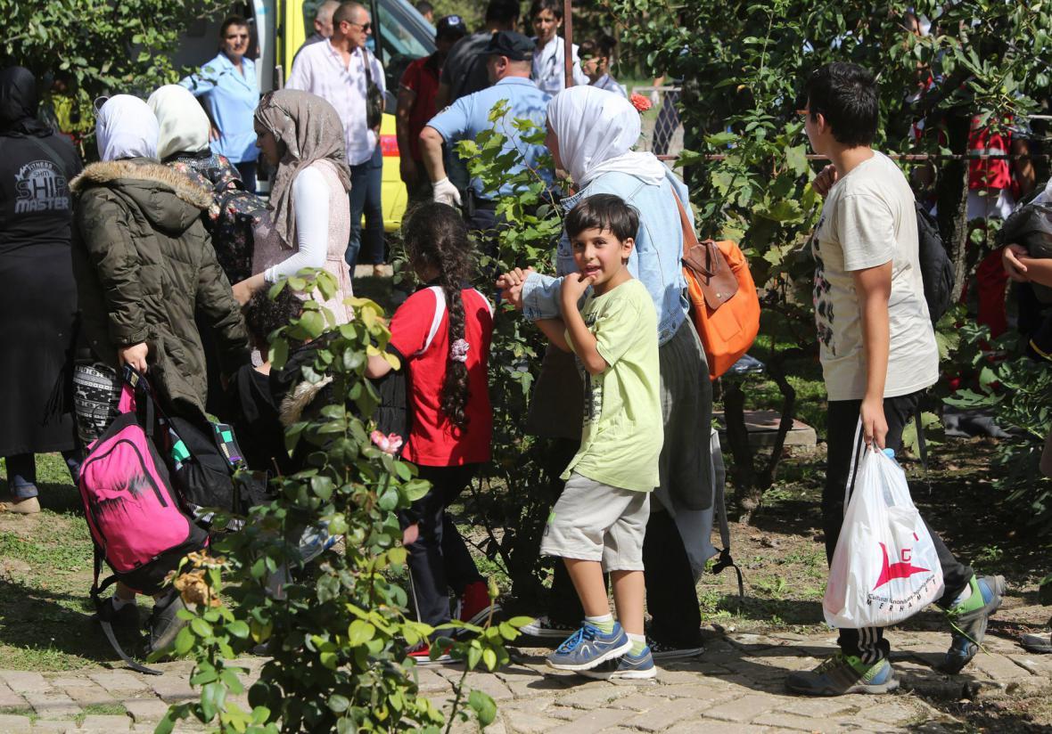 Uprchlíci na chorvatských hranicích