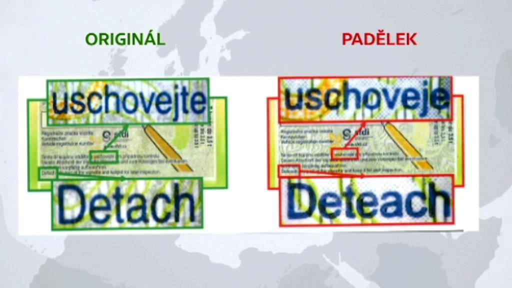 Falešné dálniční známky