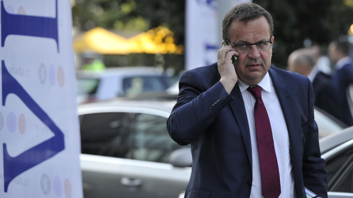 Ministr průmyslu a obchodu Jan Mládek (ČSSD)