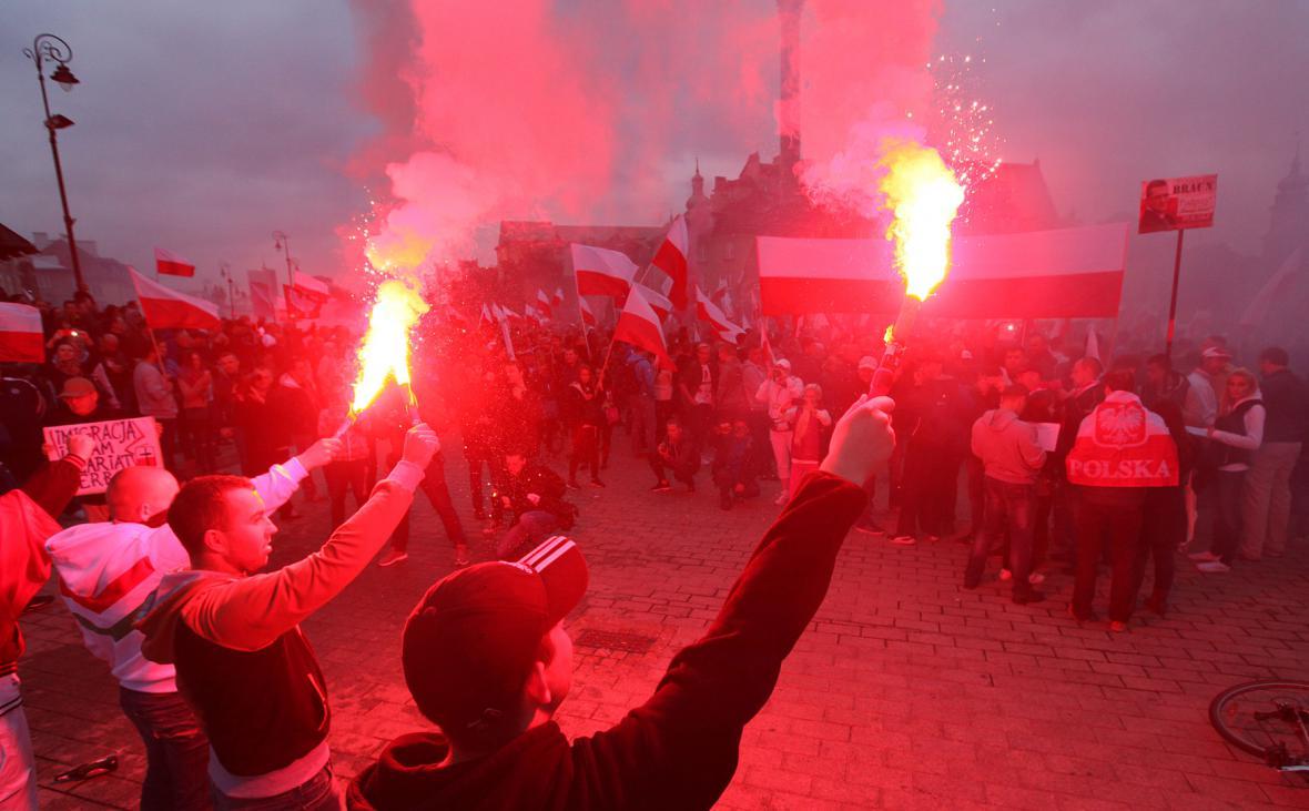Demonstrace polských nacionalistů