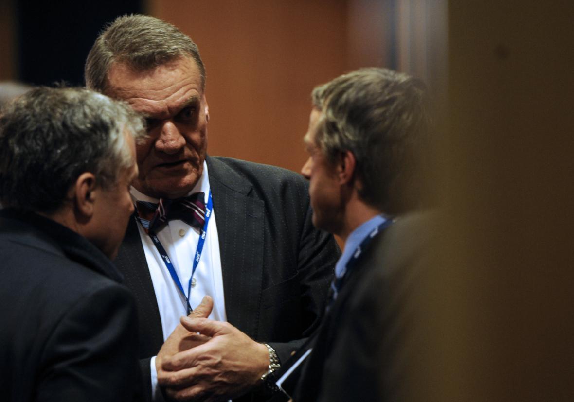 Bohuslav Svoboda s Janem Koukalem a Pavlem Bémem