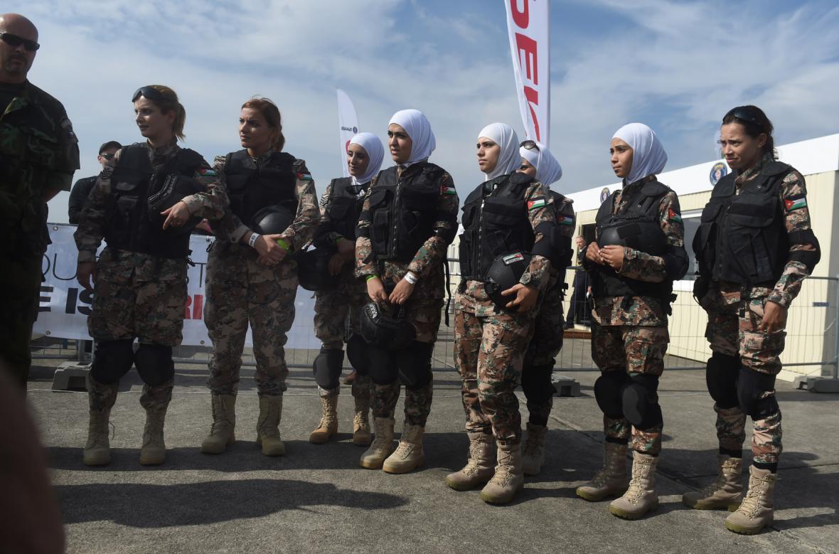 Elitní ženská jednotka jordánské armády