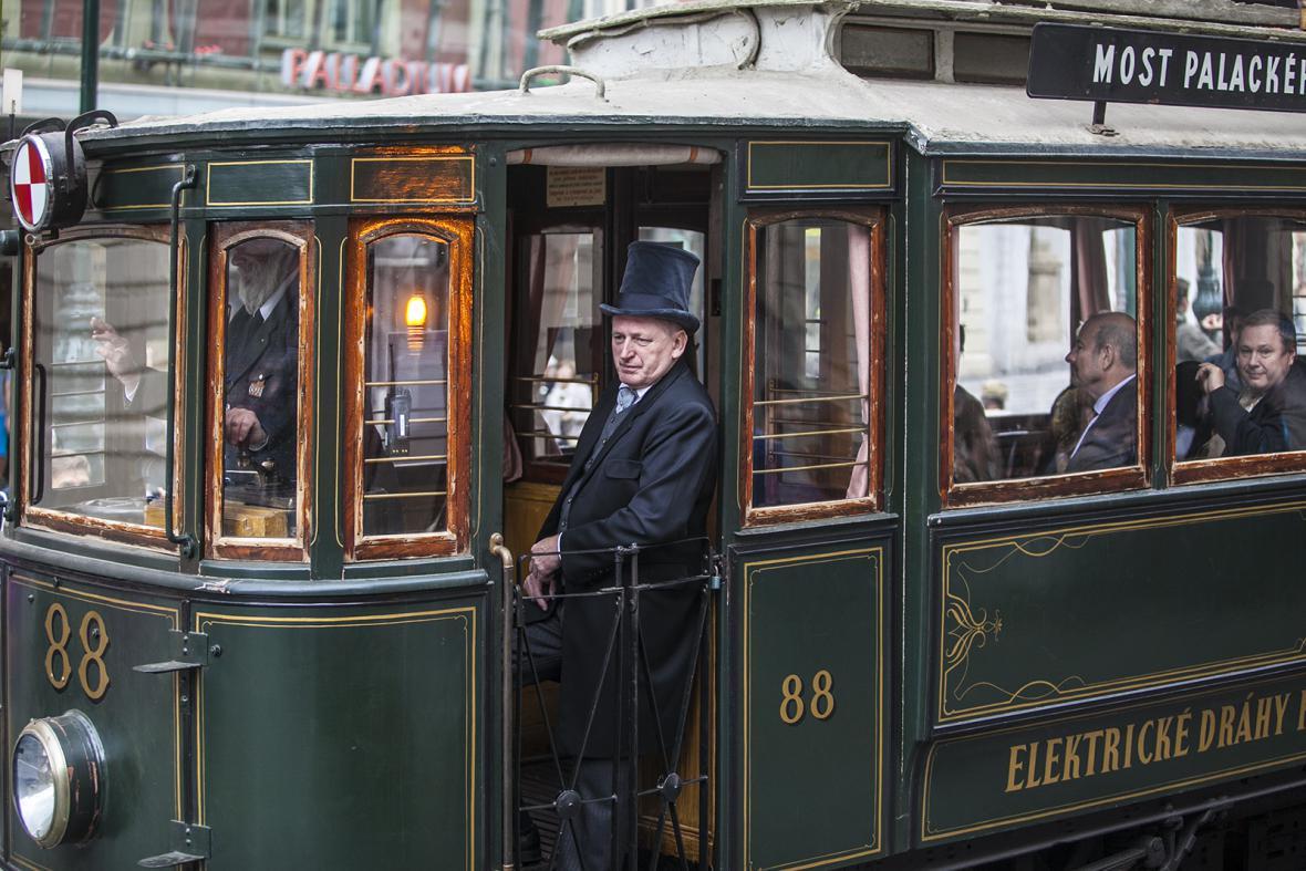 Tramvajový průvod Prahou