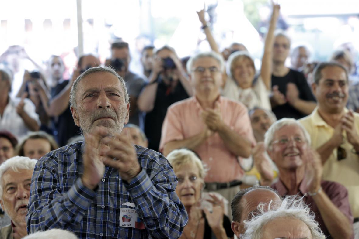 Radost příznivců Syrizy