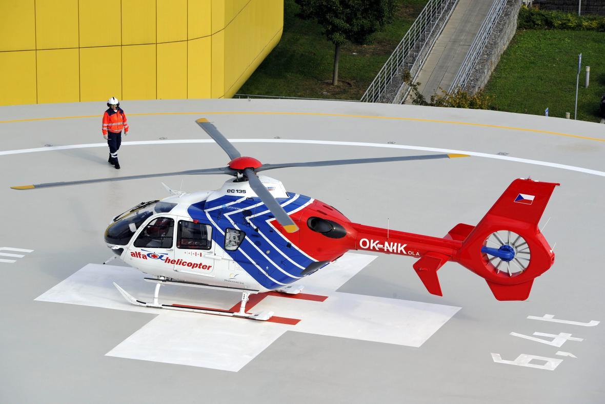 Nový heliport v areálu Fakultní nemocnice Brno