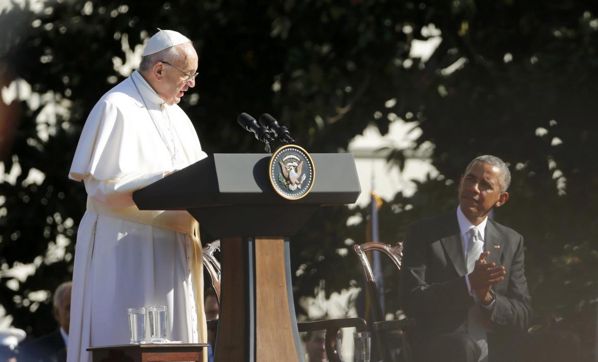 Papež František v Bílém domě