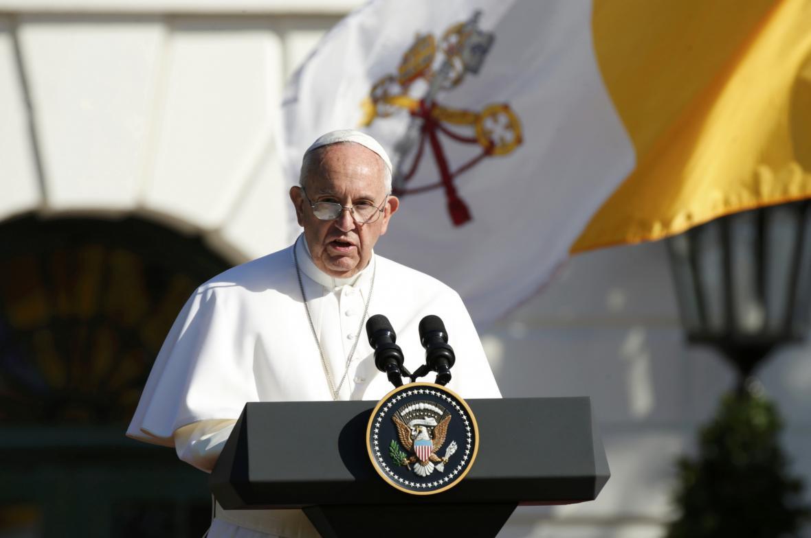 Papež František na návštěvě Spojených států