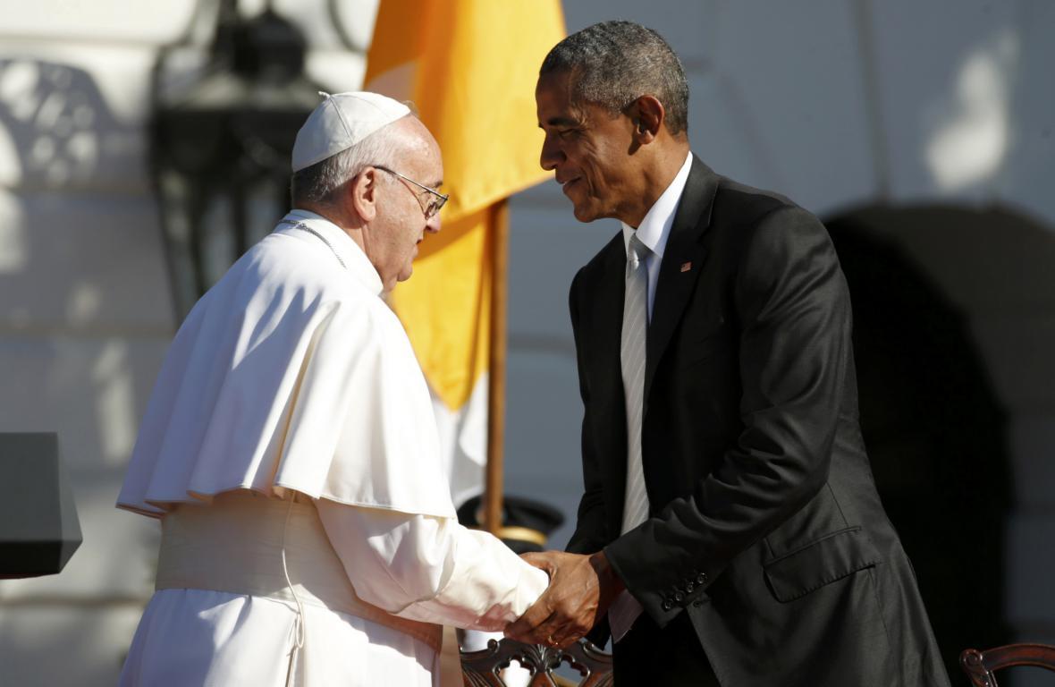 František a Barack Obama