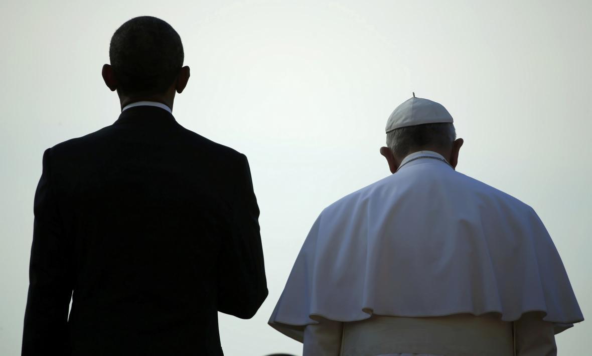 Obama přijal Františka v Bílém domě