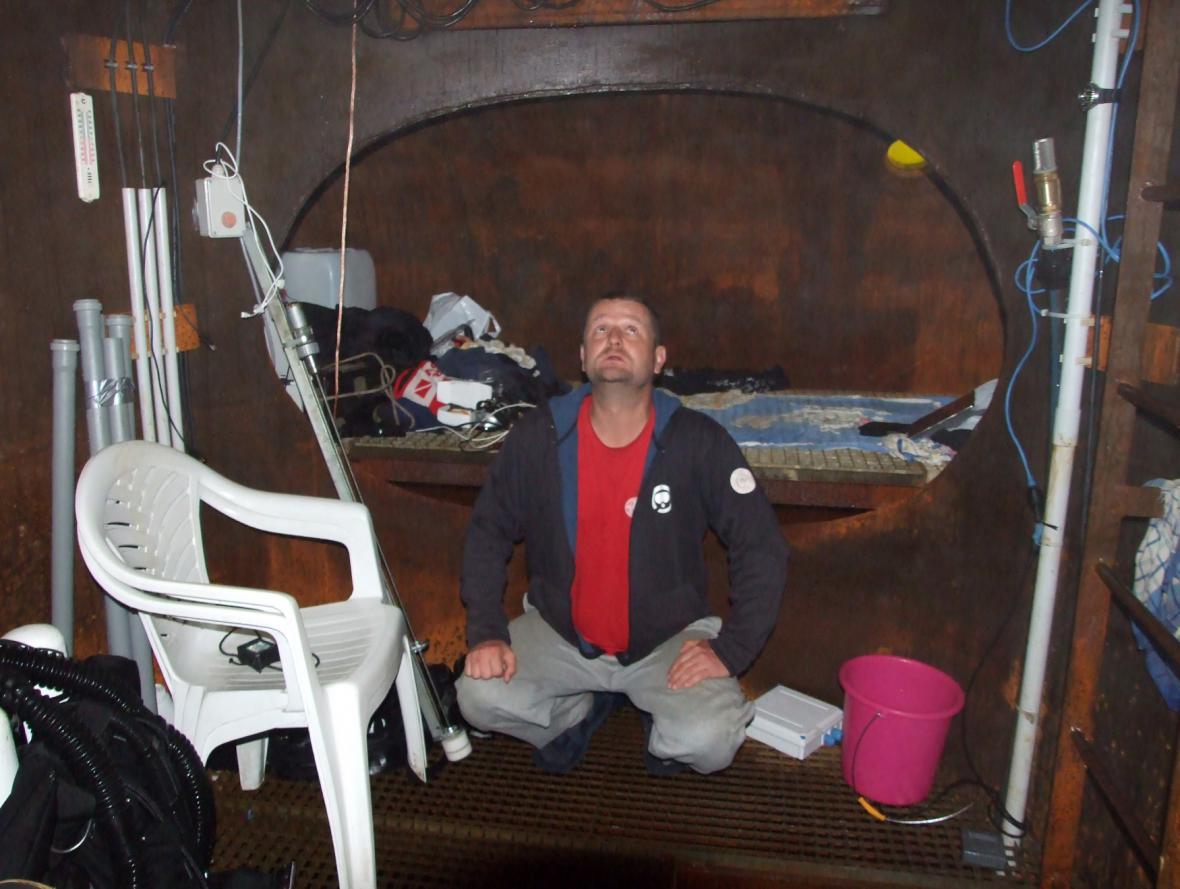 David Vondrášek strávil pod vodou 102 hodin