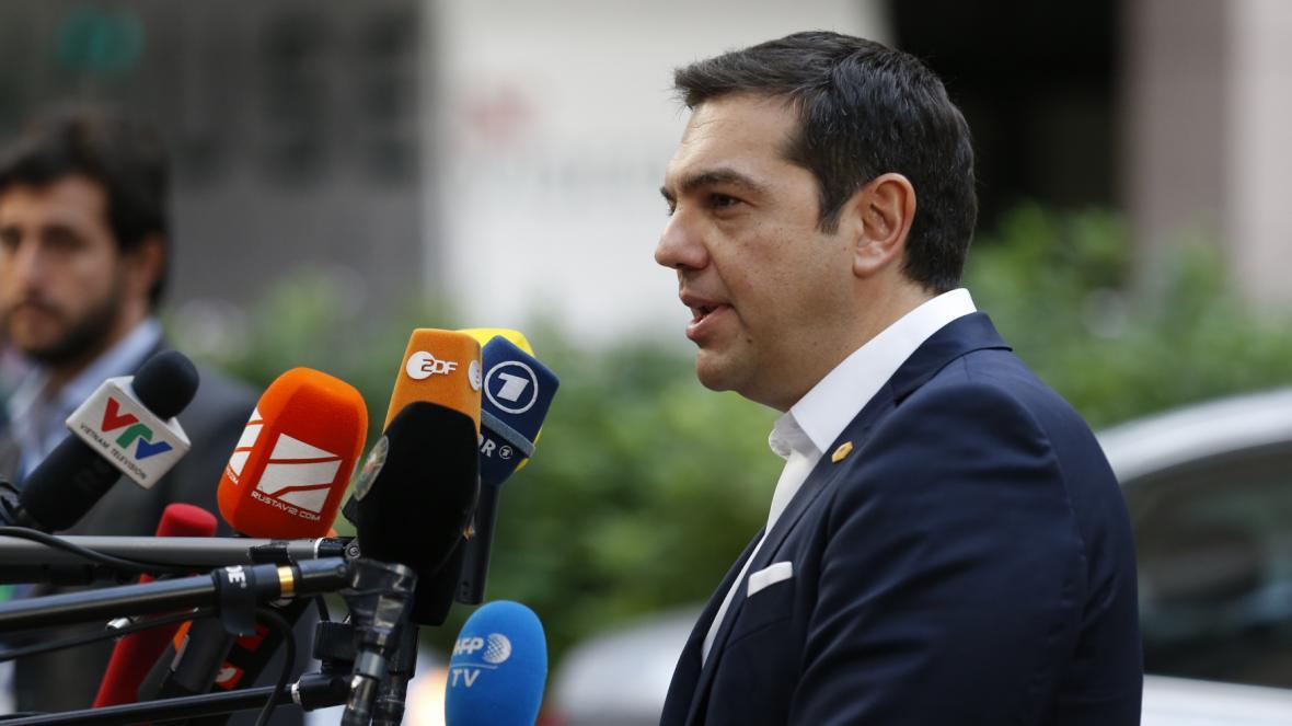 Staronový řecký premiér Alexis Tsipras na summitu EU
