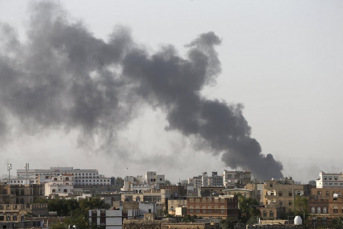 Výbuch v Saná